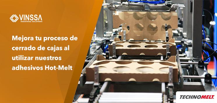 Mejora tu proceso de cerrado de cajas al utilizar nuestros adhesivos Hot-Melt