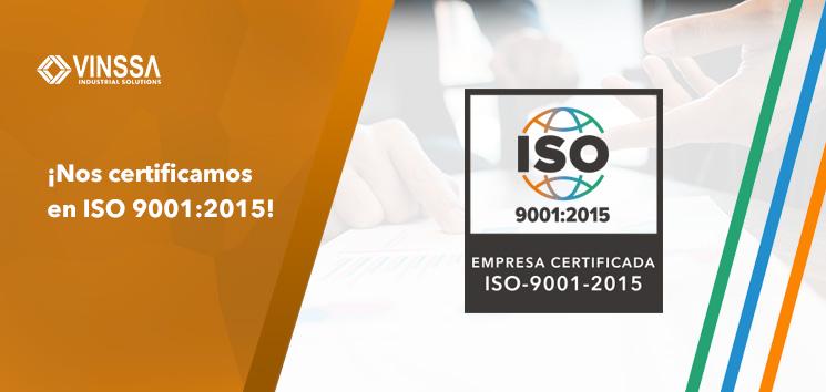 ¡Nos certificamos en ISO 9001:2015!